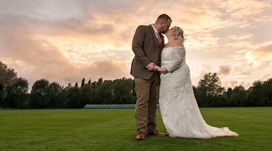couple-kiss-under-sunset-wedding-photography-nottingham-wedding-photographer