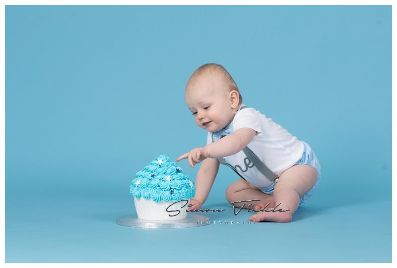 first birthday cake smash photoshoot mansfield