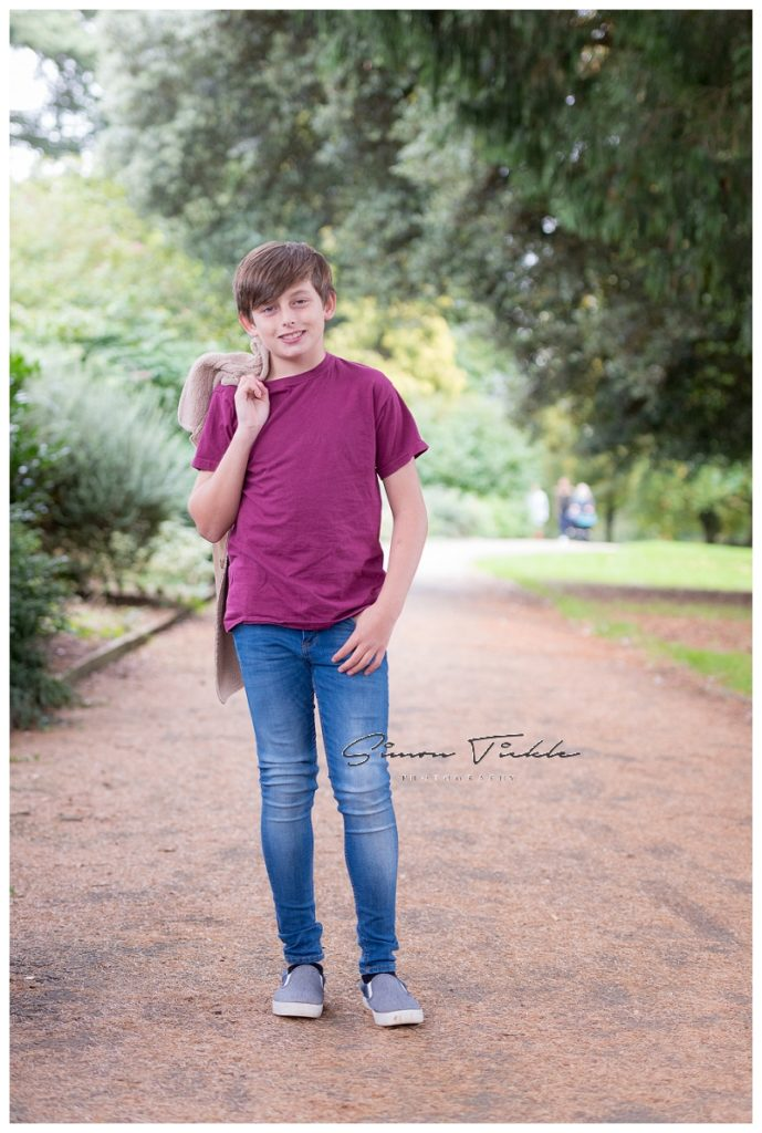 boy in purple top and blue jeans - child photo shoot nottingham