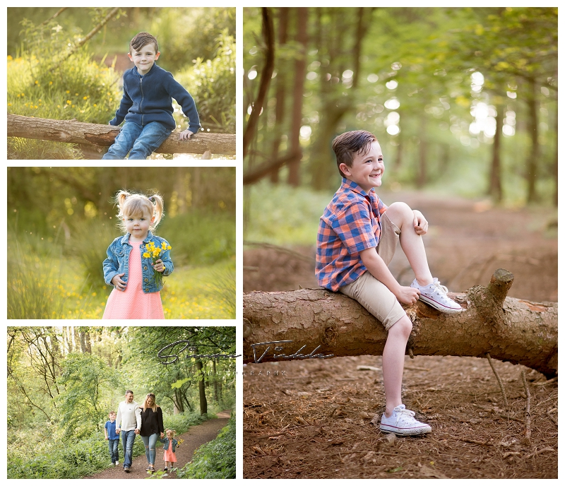 brother and sister have fun woodland photo shoot nottingham