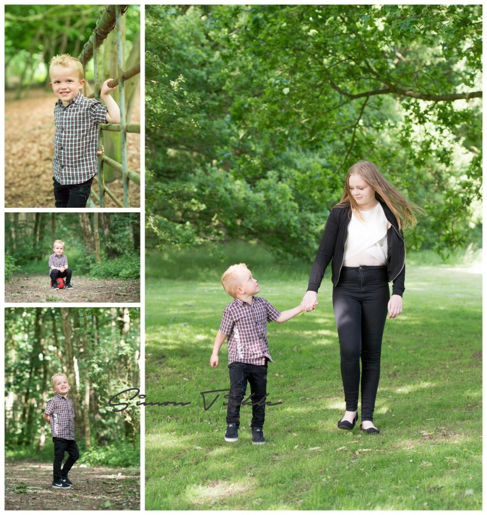family photo shoot including children in mansfield nottingham