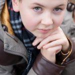 teen model headshot closeup