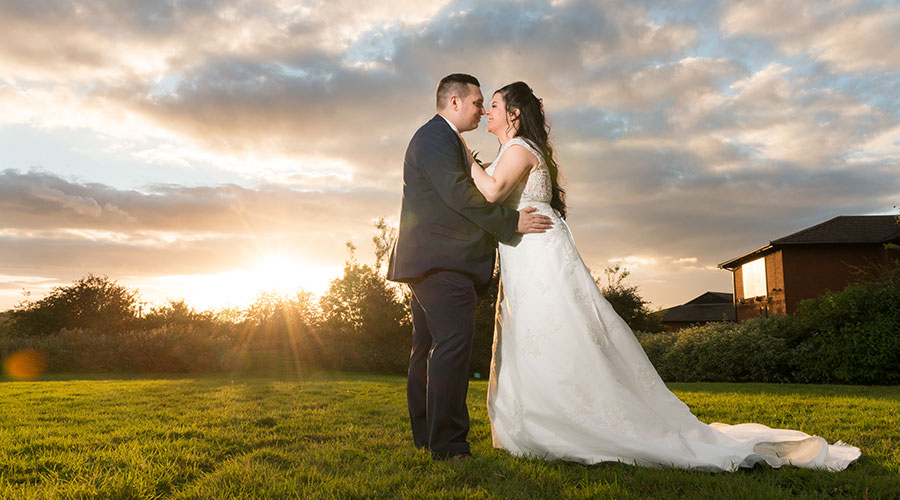 sunset-portrait-on-wedding-day-nottingham-wedding-photographer